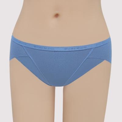 曼黛瑪璉 提托包覆舒適無痕  低腰三角無痕內褲(舒棉藍)