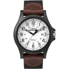 TIMEX 天美時 遠征系列 探險手錶-白x棕x黑/41mm