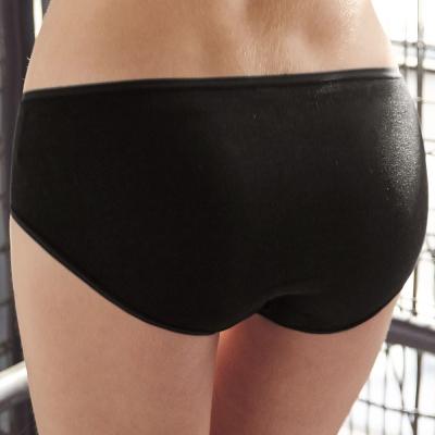 曼黛瑪璉-低腰寬邊三角棉褲-黑