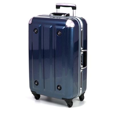 MOM  - 18吋 PC鋁框拉桿行李箱 RU-3008-18-藍