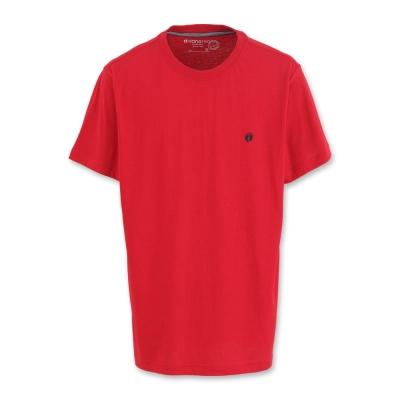 Hang Ten - 男裝 - 有機棉 圓領純色素面T-Shirt- 紅