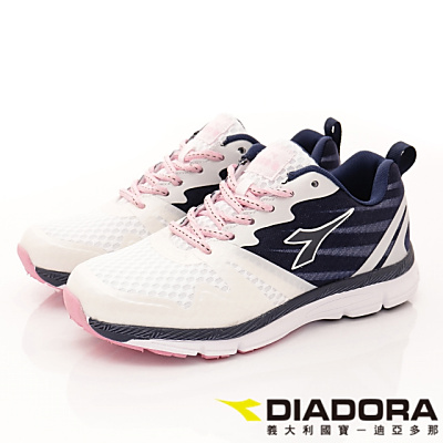 DIADORA-乳膠動能跑鞋款-RSI018白藍(女段)