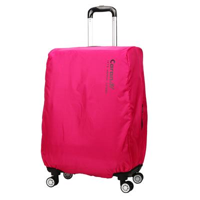 CARANY卡拉羊 旅行箱箱套 防雨罩 保護罩 炫彩防塵套(玫紅/20吋)58-0033C