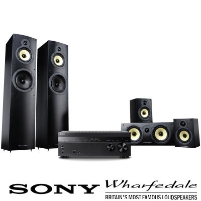 SONY STR-DH770 擴大機+Wharfedale Crystal4系列揚聲器-黑