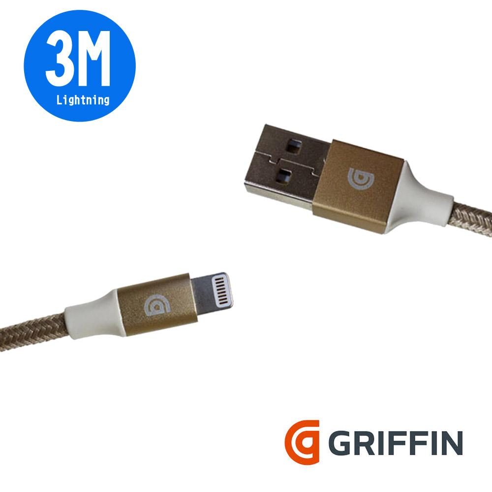 Griffin (3M) Lightning 雙向USB編織充電傳輸線