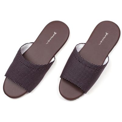 仿皮拖鞋系列簡約知性皮室內拖鞋 紅色兩雙