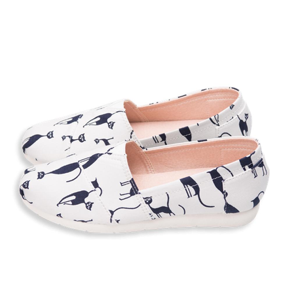 FUFA  MIT 小夜貓懶人鞋 (FS03) -白色