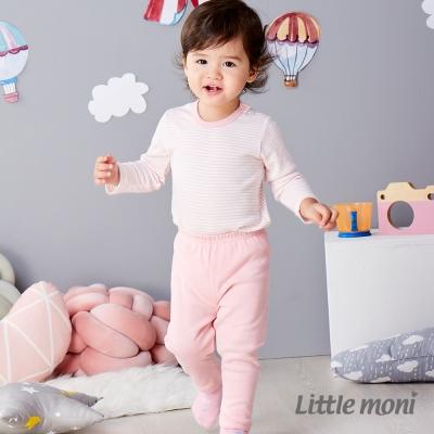 Little moni 純棉家居系列素面長褲 粉紅