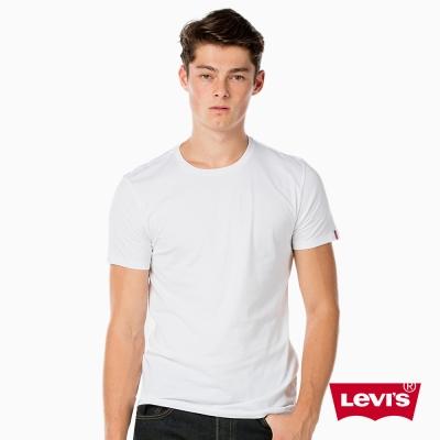T恤 男裝 白色兩件組 袖口紅旗標 - Levis
