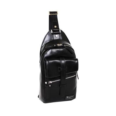 estilo - 印地安II系列 豪放氣勢 直式單肩包 - 黑色