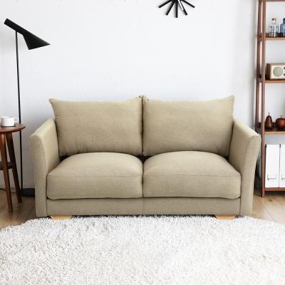 H&D 瑪德琳厚造型雙人布沙發(2色)
