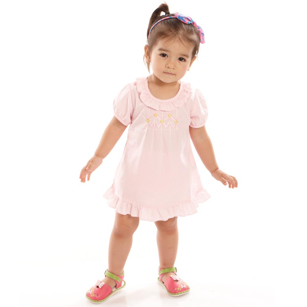 愛的世界 MYBABY 純棉洋裝兩件式包屁衣套裝/6M~3歲