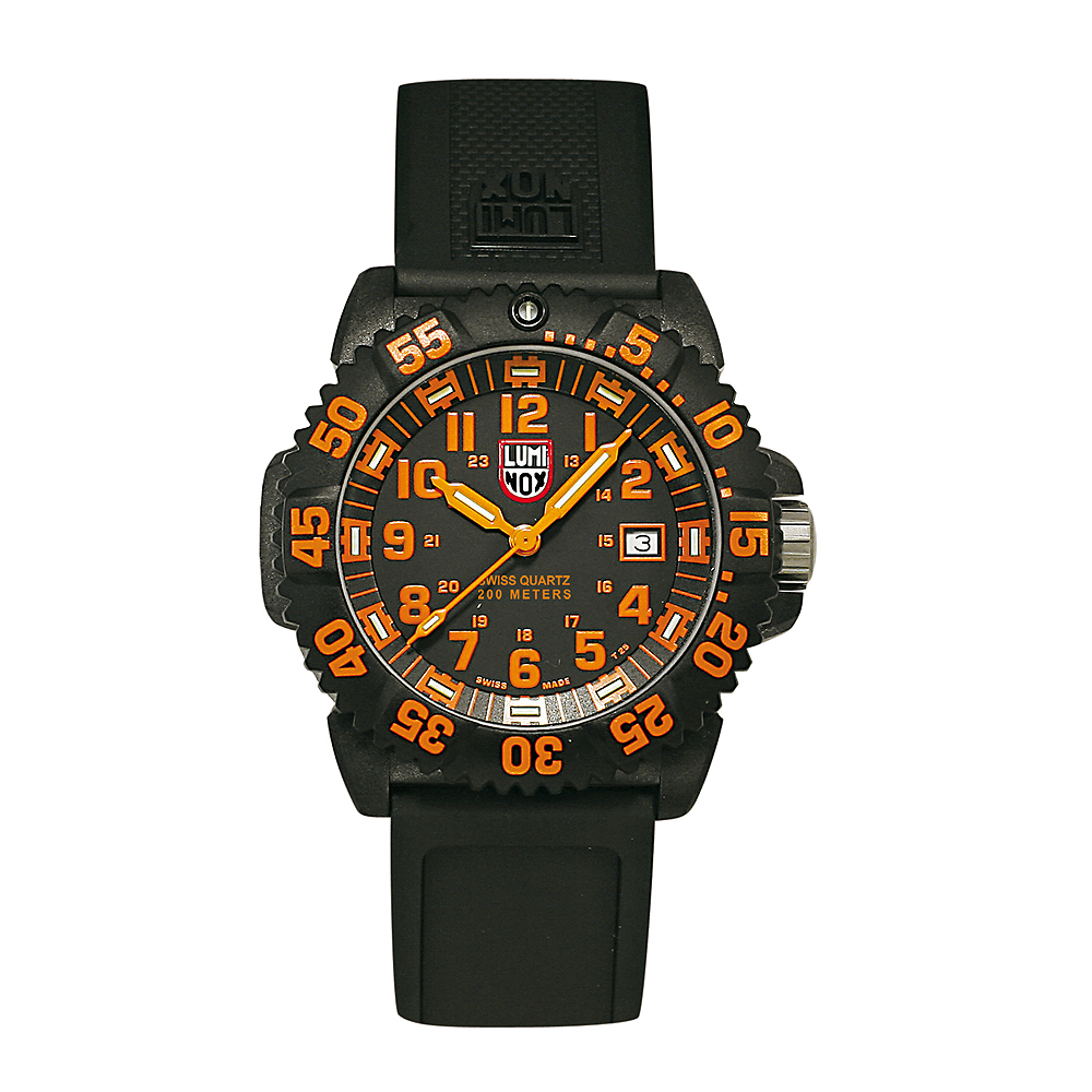 Luminox 海豹部隊指標系列經典腕錶-黑x橘時標/44mm