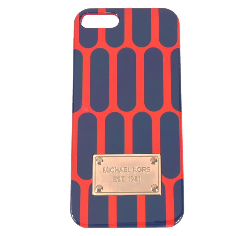 MICHAEL KORS 雙色普普風 iPhone5手機殼(紅x藍)