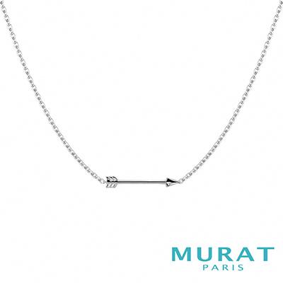 MURAT Paris米哈巴黎 時尚銀箭項鍊