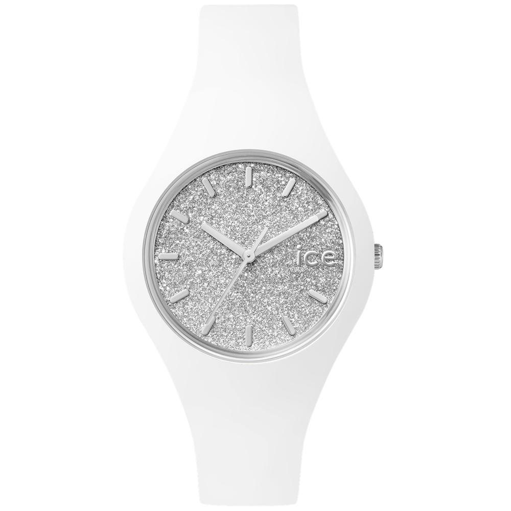 Ice-Watch 璀璨系列 光彩晶鑽手錶 S - 白x銀/38mm