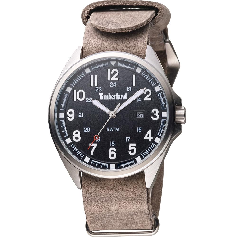 Timberland 紐約時尚復古套組腕錶-黑x灰/44mm