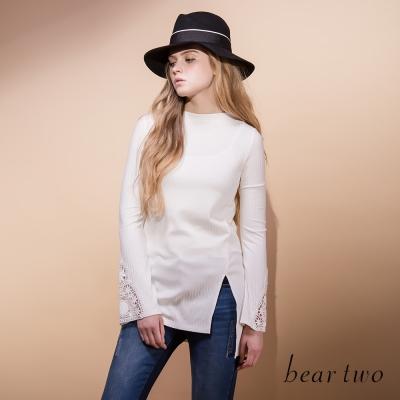beartwo-不對稱斜切剪裁造型上衣-共三色