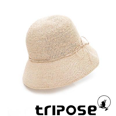 tripose 經典優雅-100%手工Raffia時尚遮陽草帽-帽簷-8cm(自然色)
