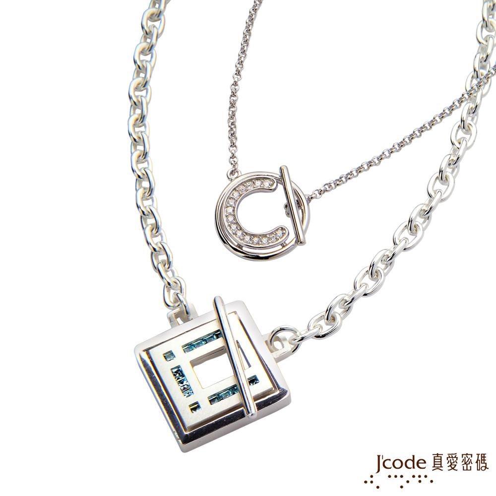 J'code真愛密碼 愛戀時空純銀成對項鍊