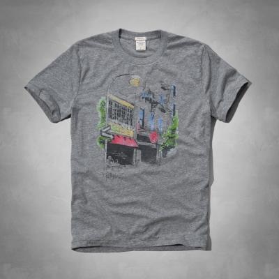 AF a&f Abercrombie & Fitch 短袖 T恤 灰色 052