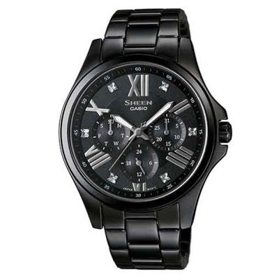 SHEEN 羅馬時刻SWAROVSKI風貌腕錶(SHE-3806B-1A)-黑/39.3mm