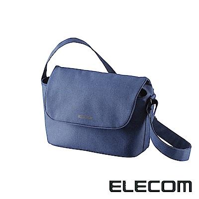 ELECOM normas休閒多功能相機側背包-藍