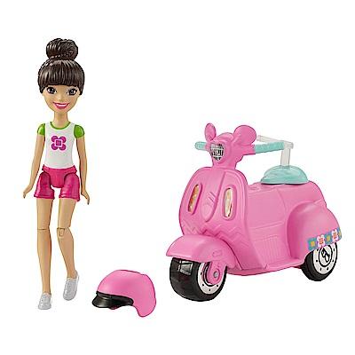 芭比帶著玩電動汽車 運動型滑板車-粉紅(4Y+)