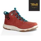 TEVA 美國-女 Arrowood Lux Mid 輕量防水機能休閒鞋 磚紅色