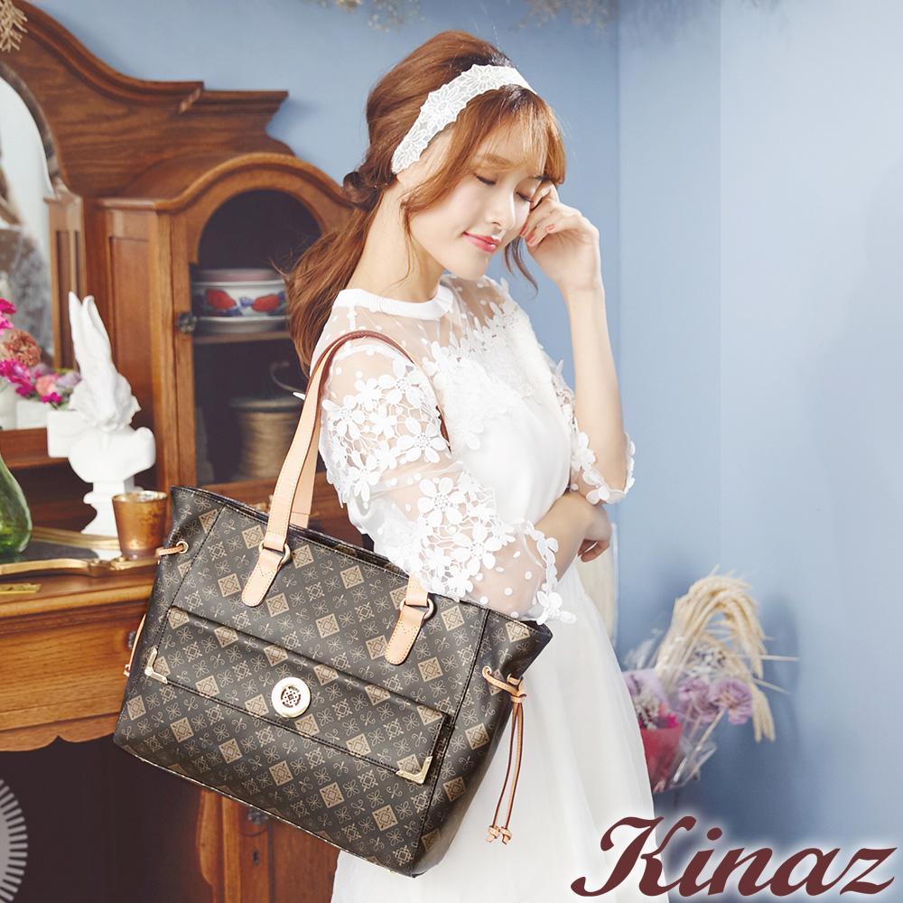 KINAZ -Classic原色經典系列~優雅女伶抽繩包