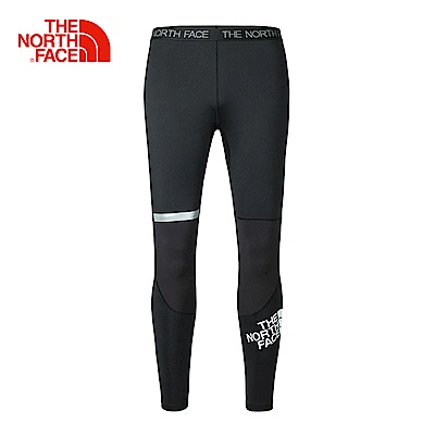 The North Face北面男款黑色輕便透氣運動緊身褲