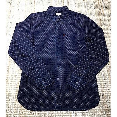 Levis 長袖襯衫 男裝 單口袋 深藍紅點點