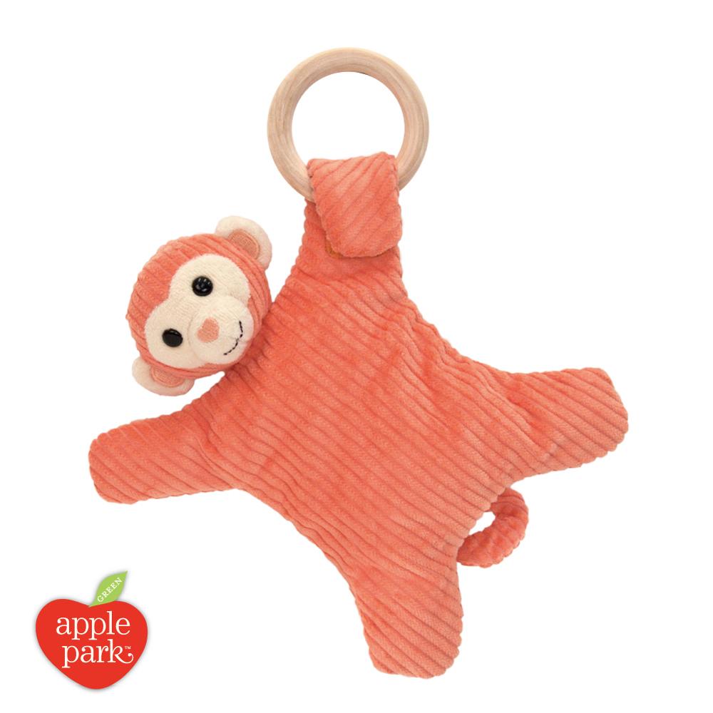 美國 Apple Park 有機棉奶嘴安撫玩偶 - 橘色小猴
