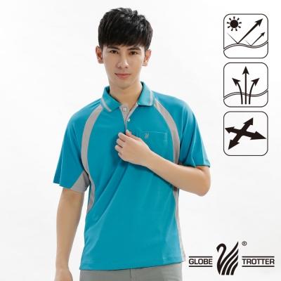 【遊遍天下】MIT台灣製男款吸濕排汗抗UV機能POLO衫S019(水綠)
