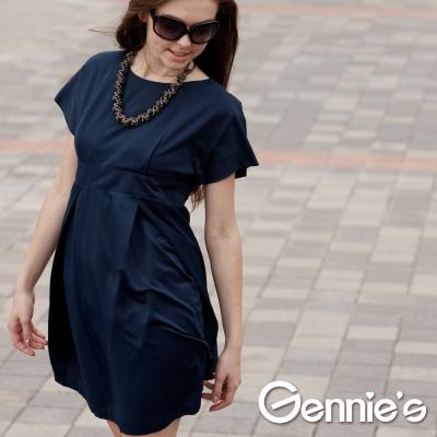 Gennie-s奇妮-ITALY-Faravani系列-名媛風潮連袖花苞孕婦洋裝