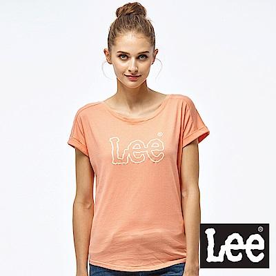 Lee 鎖鏈LOGO短袖圓領TEE-女款-紅