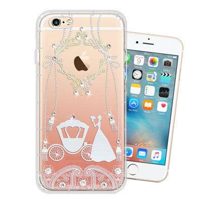 WT iPhone 6s / 6 4.7吋 奧地利水晶彩繪空壓手機殼(精靈捧花)