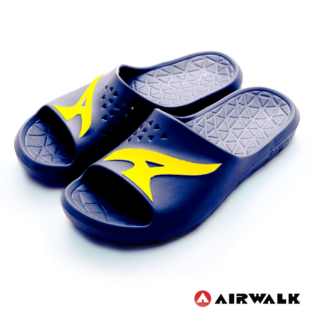 【AIRWALK】舒適柔軟輕盈AirJump拖鞋-深藍