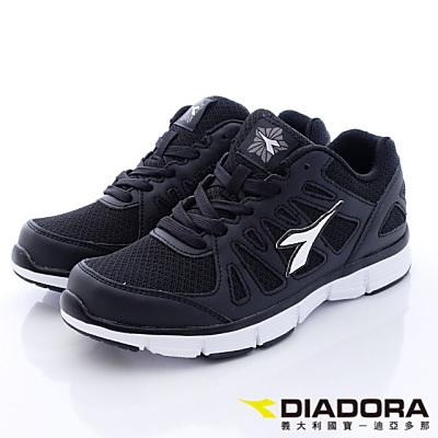 DIADORA-極簡機能慢跑款-TW820黑-女段