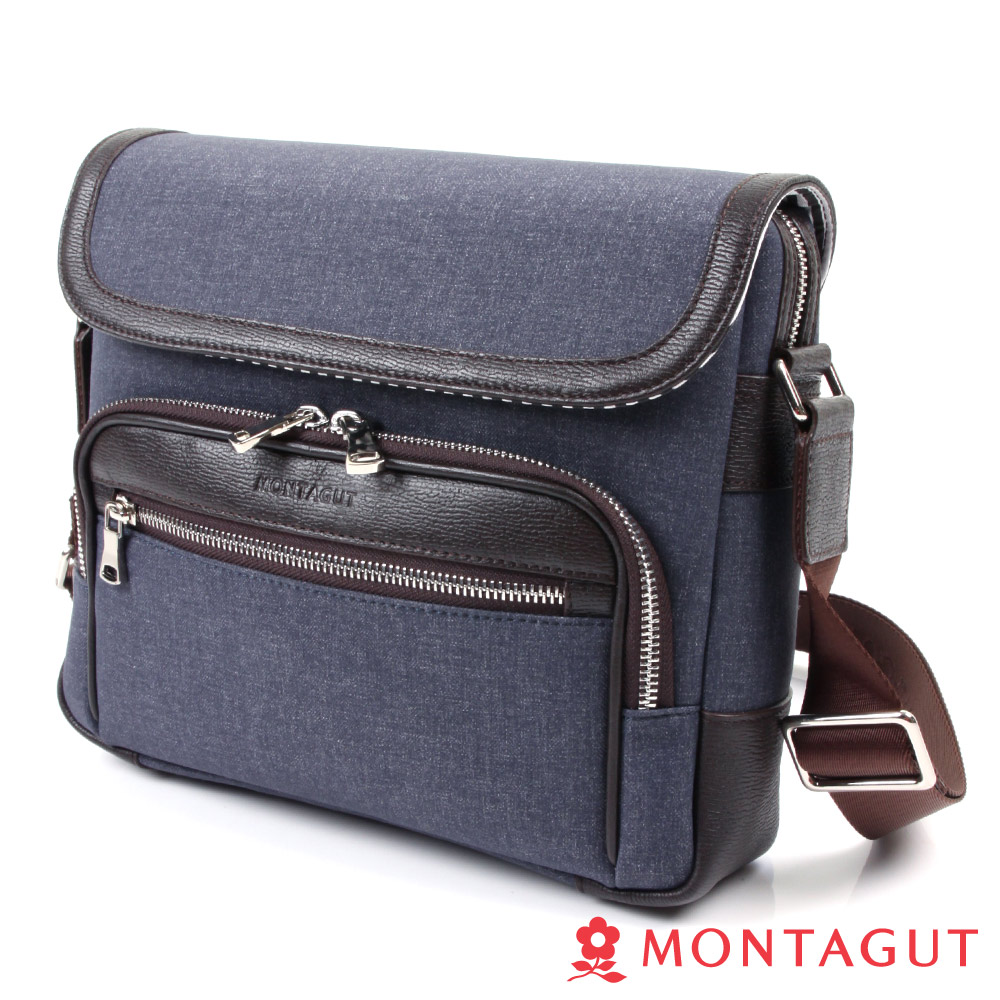 MONTAGUT夢特嬌-防潑水輕量側背包-時尚丹寧風