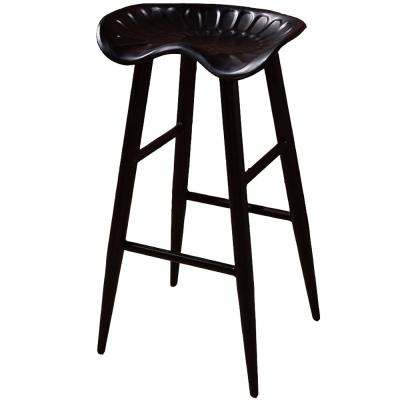 AT HOME - 庫克黑腳吧台椅 35x30x75cm