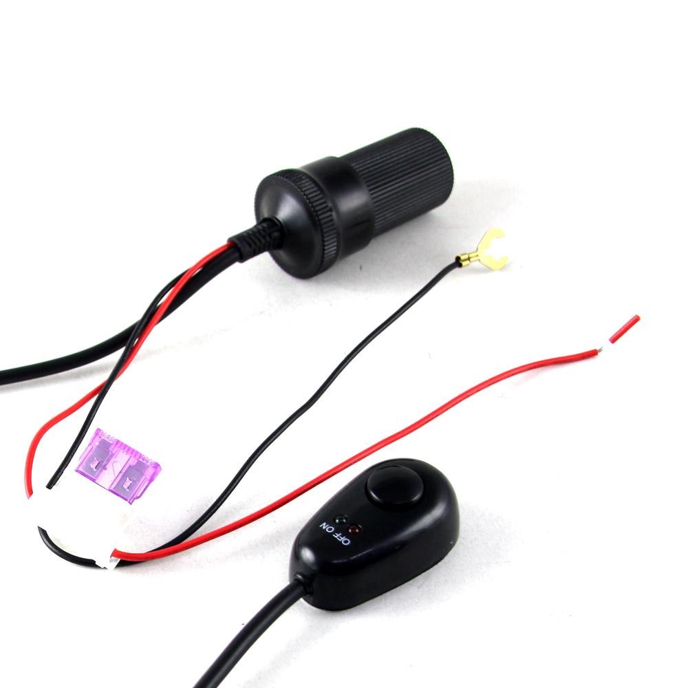 水滴型電源開關車充線 行車記錄器&測速&導航配件-快