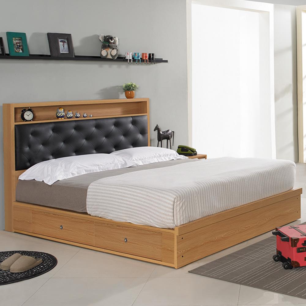 Homelike 米亞抽屜式床台組-雙人加大6尺