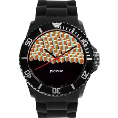 PICONO 繽紛主題 - 方塊遊樂場系列手錶 - 黑/40mm