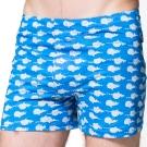 SOLIS 鯨奇冒險系列S-XXL寬鬆純棉四角男褲(海藍色)