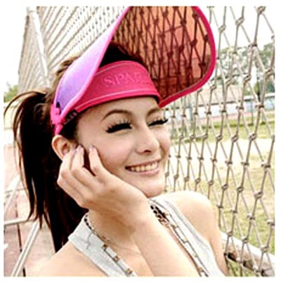Aimee-Toff-新款七彩渡膜-抗UV400美容面罩-桃紅