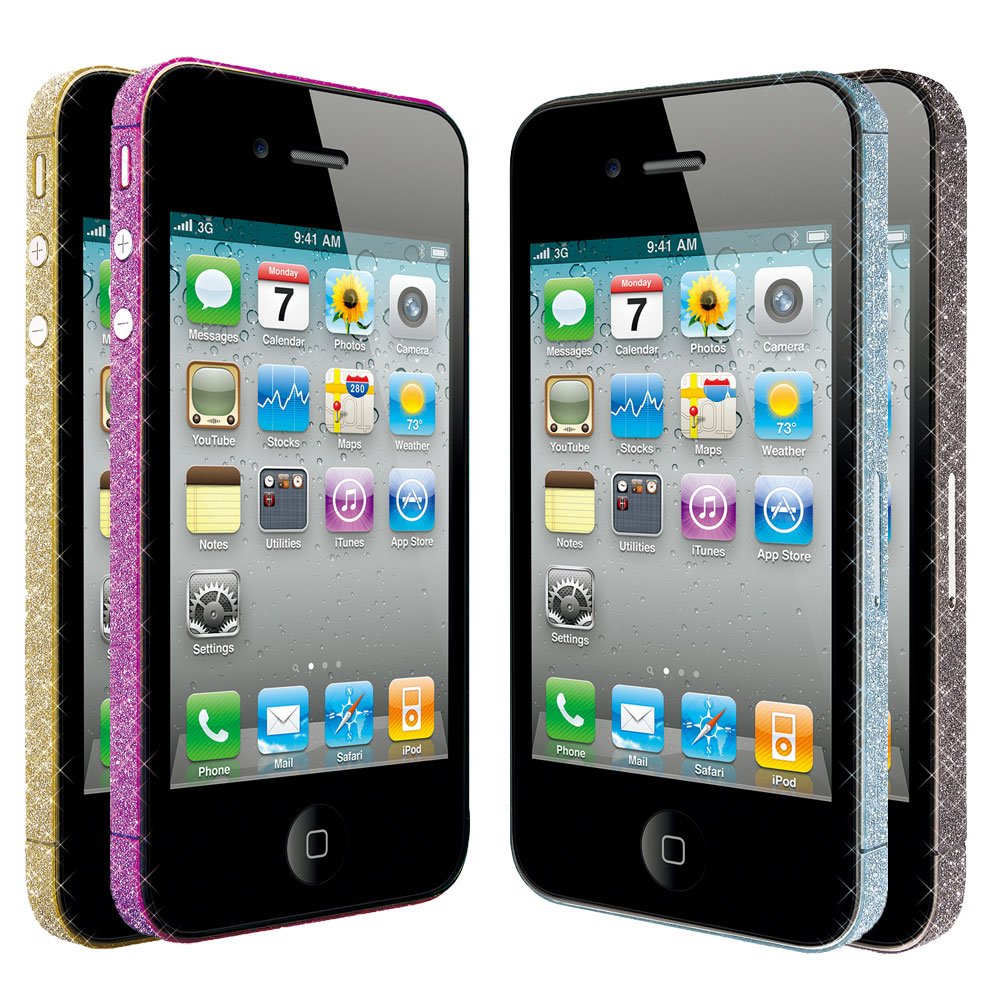 Ozaki iCoat Bling Bling iPhone4S時尚邊框晶亮貼
