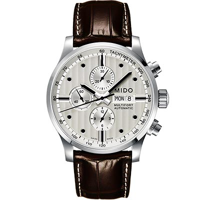 MIDO Multifort Chrono Valijoux計時碼錶-銀白/44mm