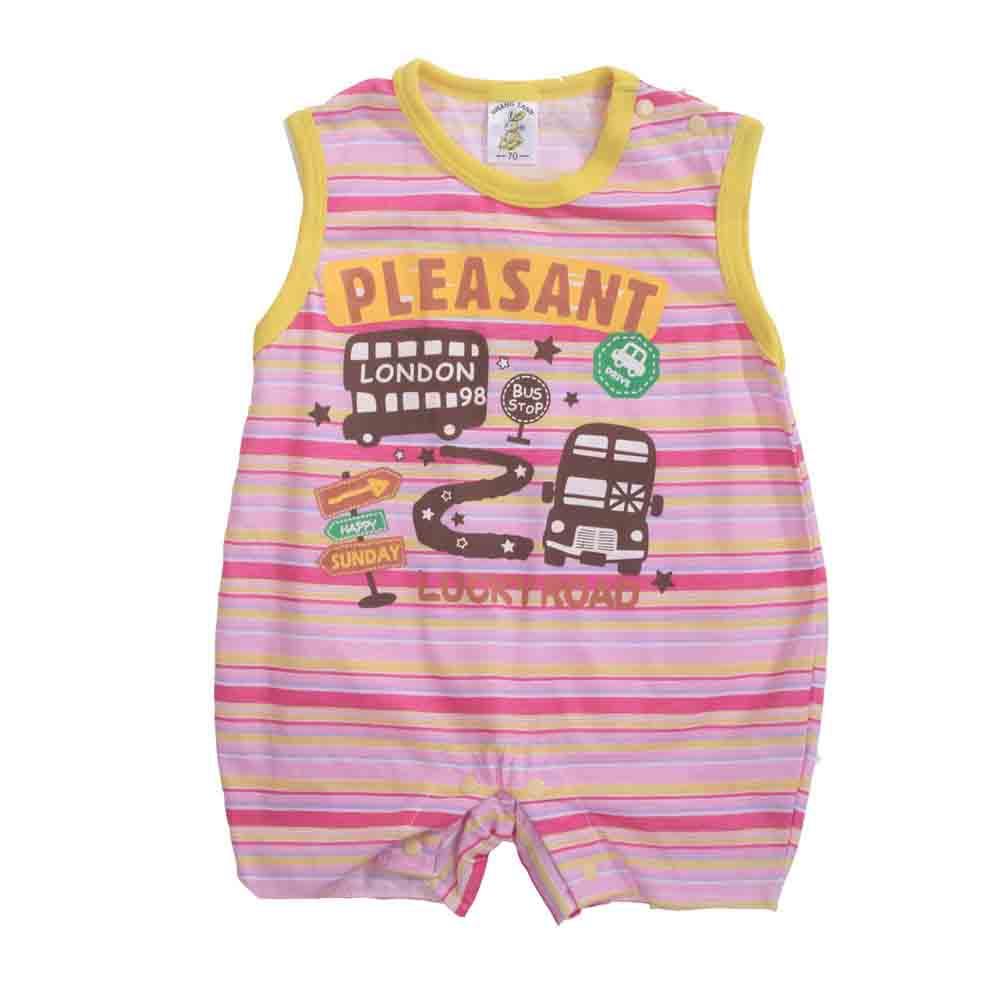 台灣製女寶寶無袖包屁衣 魔法Baby k41033