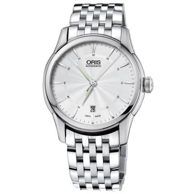 ORIS豪利時 Artelier Date 藝術家經典機械錶-銀/40mm